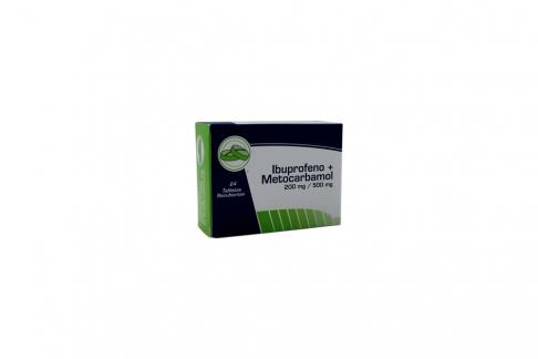 Ibuprofeno 200 mg + Metocarbamol 500 mg Caja Con 24 Tabletas Rx