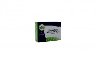 Ibuprofeno Metocarbamol 200  mg Caja x 24 Tabletas Rx
