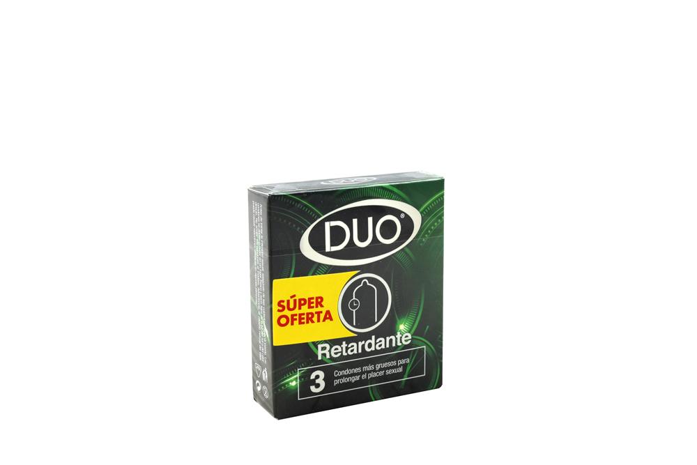 Condones Sanamed Duo Empaque Con 3 Unidades Retardante