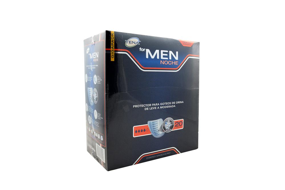 Protectores Tena For Men Noche Empaque Con 20 Unidades