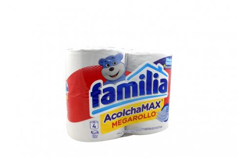 Papel Higiénico Familia Acolchamax Megarollo Empaque Con 4 Unidades