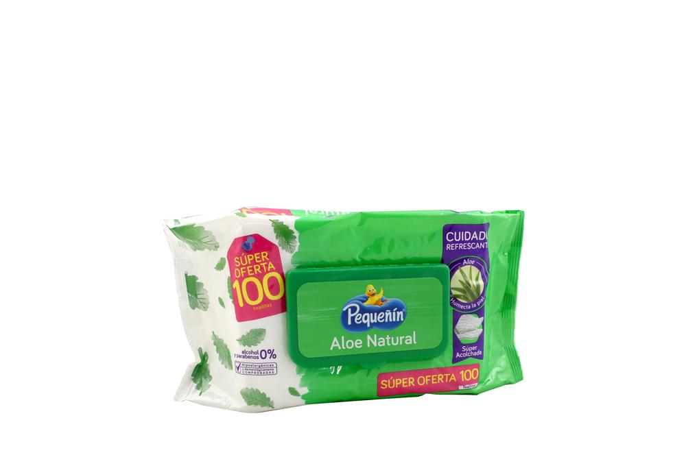 Pañitos Húmedos Pequeñín Aloe Empaque Con 100 Unidades