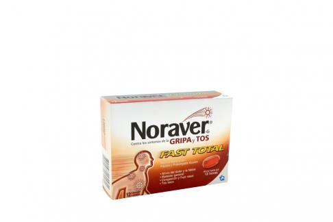 Noraver-g Gripa Fast Total Caja Con 12 Cápsulas Blandas