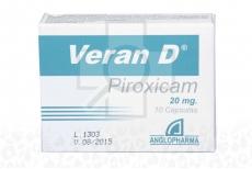 Veran D 20 mg Caja Con 10 Cápsulas Rx