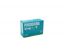 Piridoxina 50 mg Caja Con 100 Tabletas
