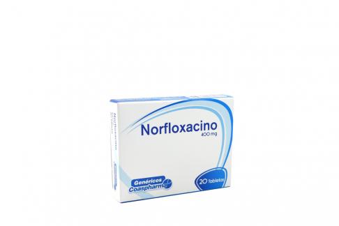 Norfloxacino 400 mg Caja Con 20 Tabletas Rx2