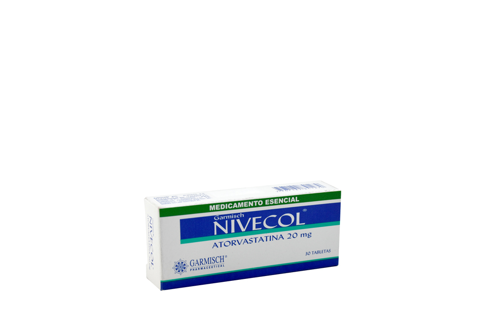 Nivecol 20 mg Caja Con 30 Tabletas Rx4