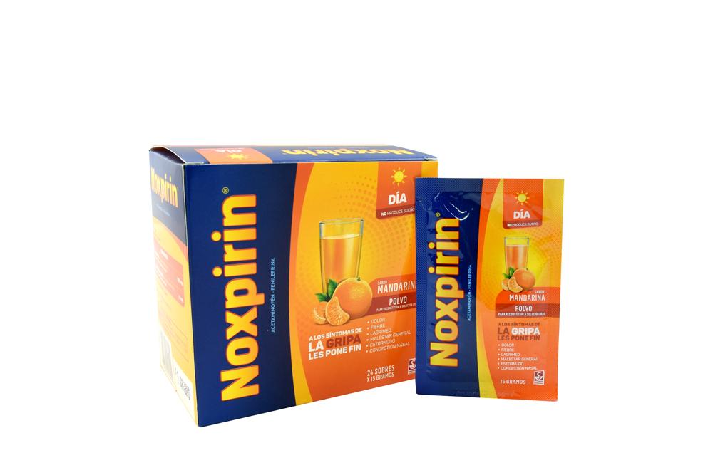 Noxpirin Día Caja Con 24 Sobres Con 15 g C/U - Sabor Naranja