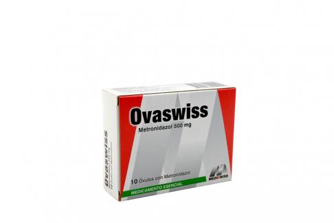 Ovaswiss 500 mg Caja Con 10 Óvulos Rx