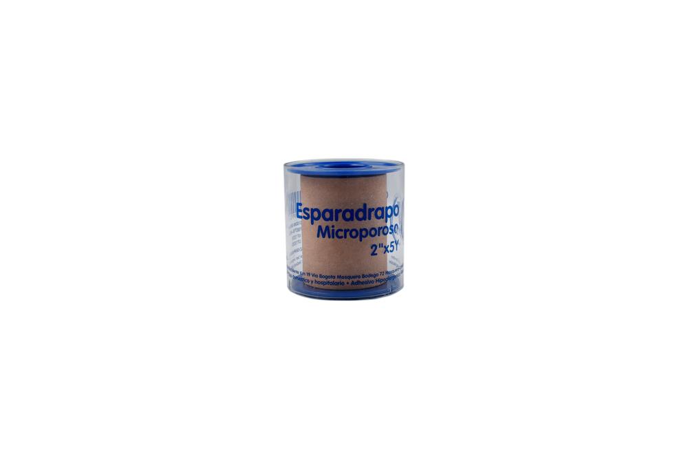 """Esparadrapo Microporoso Quirúrgico 2"""" x 5 Yardas Empaque Con 1 Unidad"""