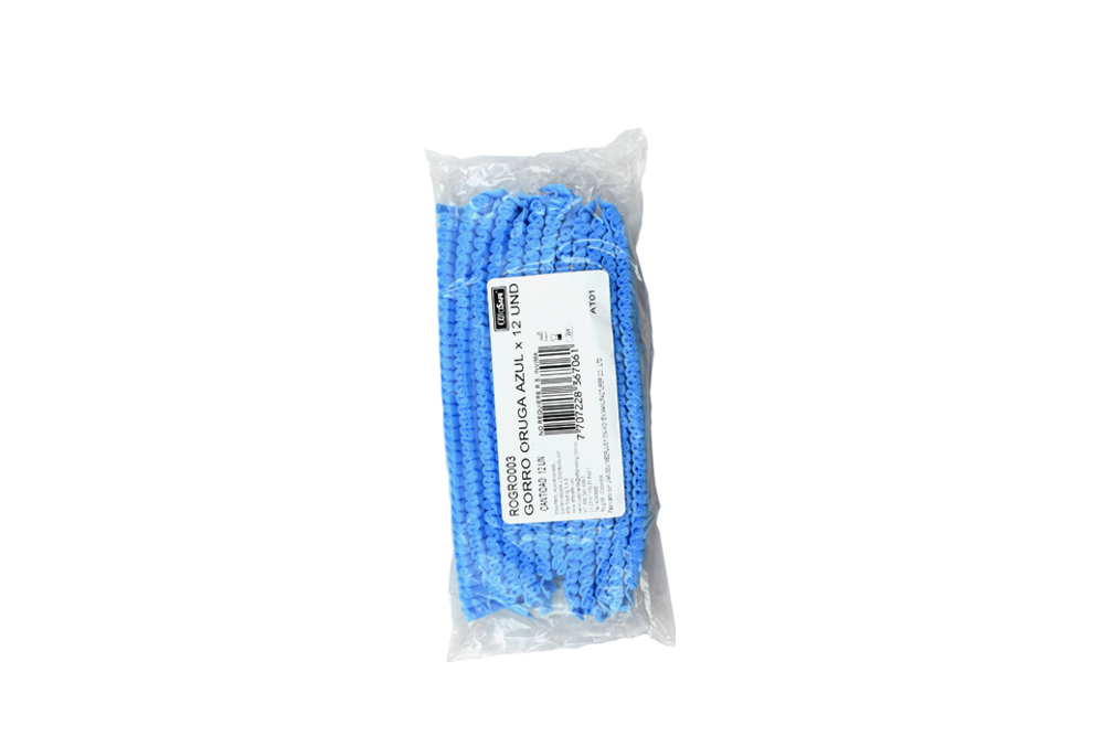Gorro Desechable Oruga Alfa Azul Caja Con 12 Unidades