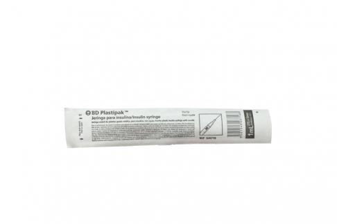 Jeringa Insulina Plástica Con 27 x 1/2 Empaque Con 1 Unidad