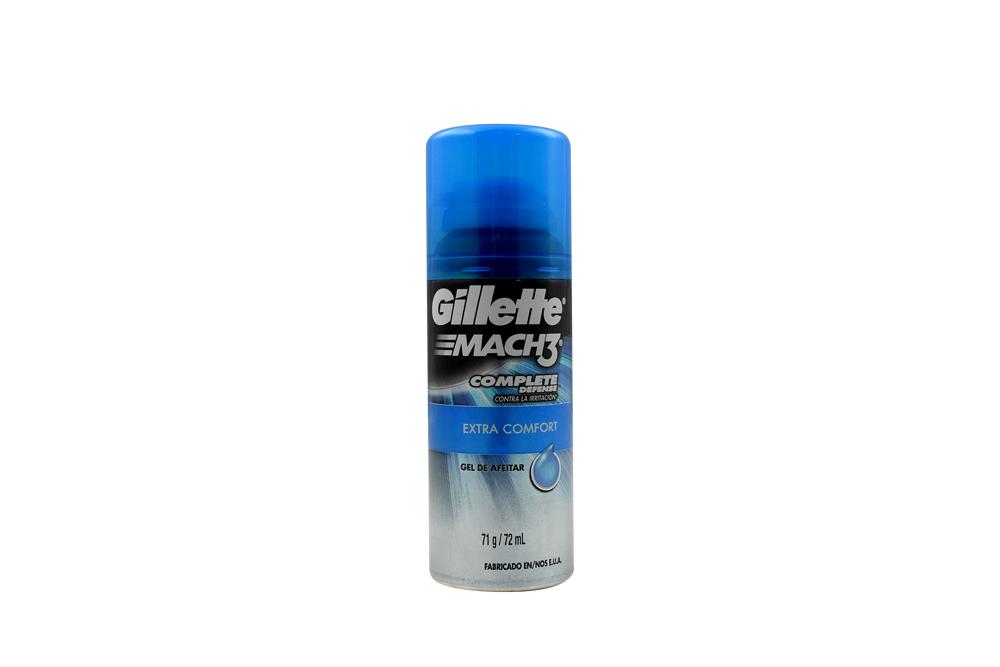 Gel Para Afeitar Gillette Mach 3 Extra Comfort Frasco Con 72 mL