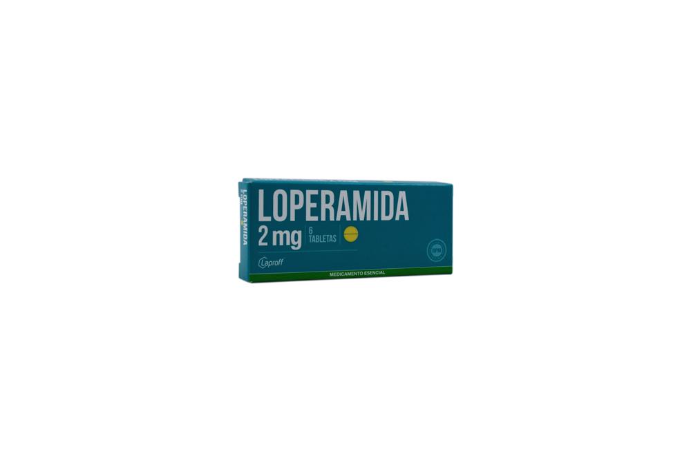 Loperamida 2 mg Caja Con 6 Tabletas Rx