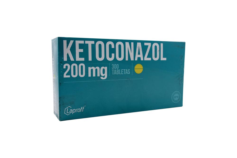 Ketoconazol 200 mg Caja Con 300 Tabletas Rx