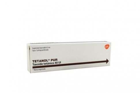 Tetanol Pur Caja Con 1 Jeringa Prellenada Rx3