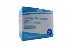 """Jeringa Desechable 3 Partes 3 mL Aguja 23G x 1"""" Begut Caja Con 100 Unidades"""