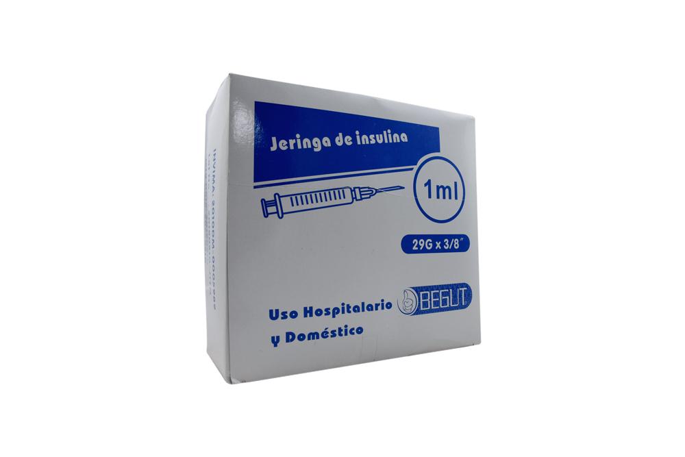 "Jeringa De Insulina 1 mL Aguja 29G x 3/8"" Begut Caja Con 100 Unidades"