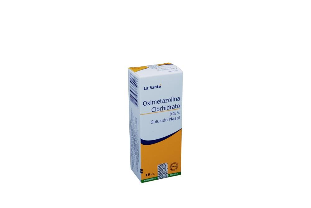 Oximetazolina Clorhidrato 0.05% Solución Caja Con Frasco Con 15 mL