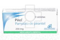 Pamoato De Pirantel 250 mg Caja Con 3 Tabletas Rx