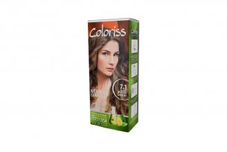 Coloriss Tintura Permanente Caja Con Tubo Con 50 g – Color Rubio Mediano Cenizo