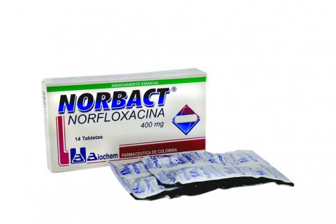 Norbact 400 mg Caja X 14 Tabletas Rx2