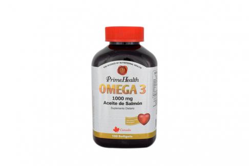 Omega 3 Salmon Oil 1000 mg Frasco Con 100 Perlas