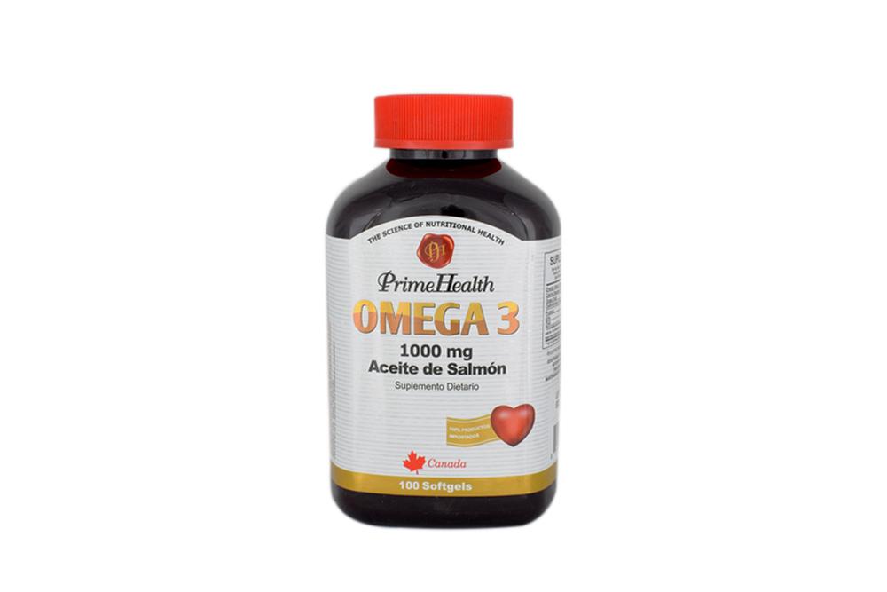 Omega 3 Salmon Oil 1000 mg Frasco Con 100 Cápsulas