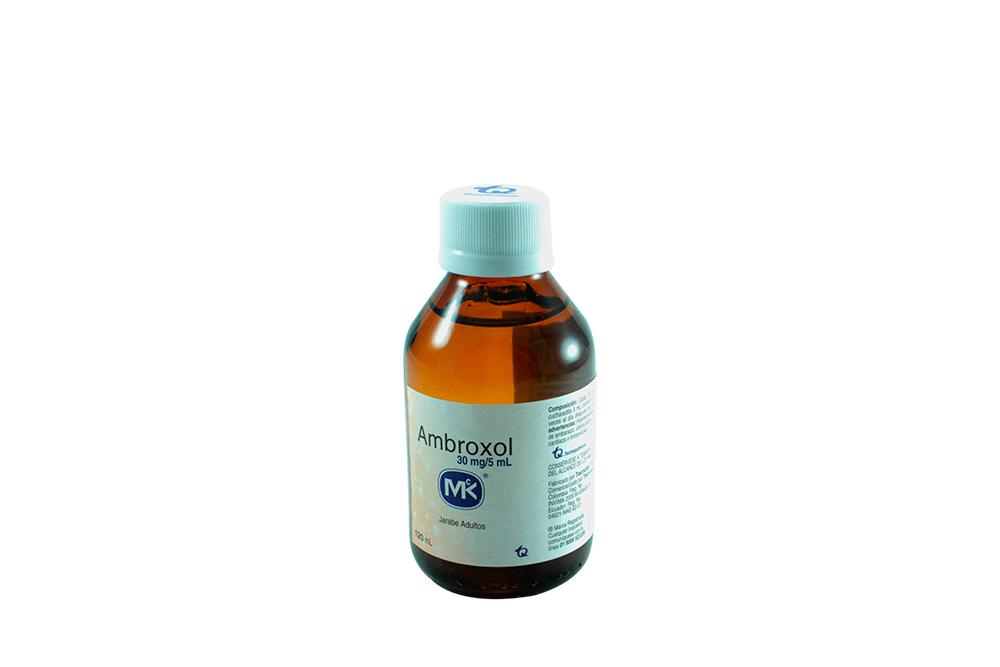 Ambroxol 30 mg / 5 mL Jarabe Adultos Frasco Con 120 mL Rx