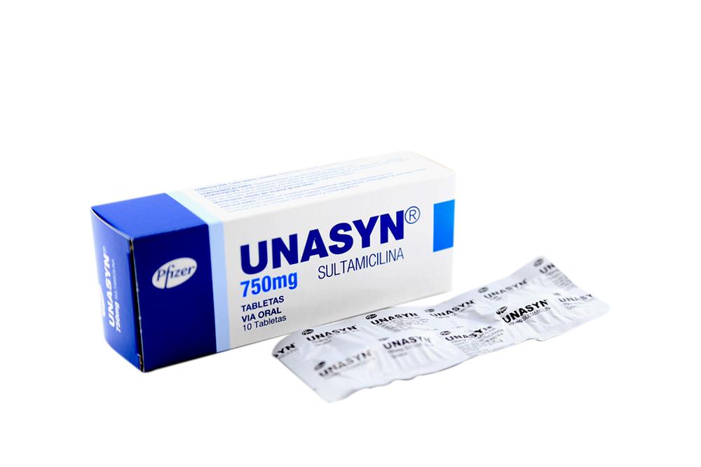 Unasyn 750 mg Caja Con 10 Tabletas Rx2