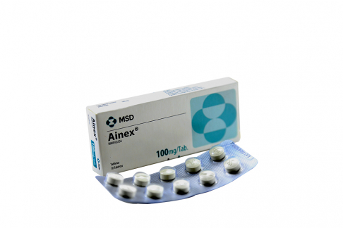 Ainex 100 mg Caja Con 10 Tabletas Rx