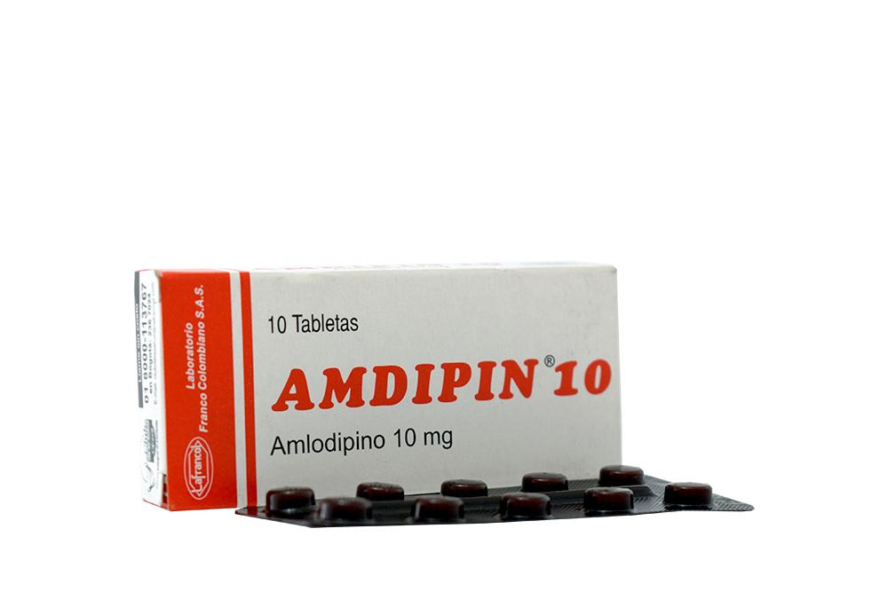 Amdipin 10 mg Caja Con 10 Tabletas Rx4