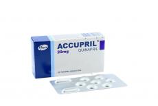 Accupril 20 mg Caja Con 28 Tabletas Recubiertas Rx