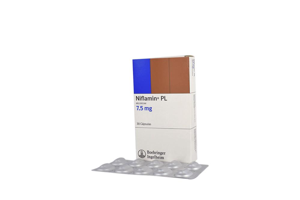 Niflamin PL 7.5 mg Caja Con 30 Cápsulas Rx