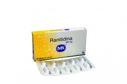 Ranitidina 300 mg Caja Con 10 Tabletas Rx