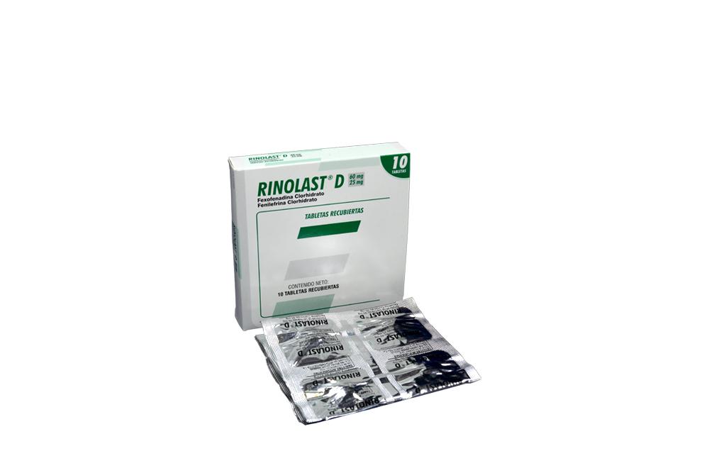 Rinolast D 60 mg / 25 mg Caja Con 10 Tabletas Recubiertas Rx
