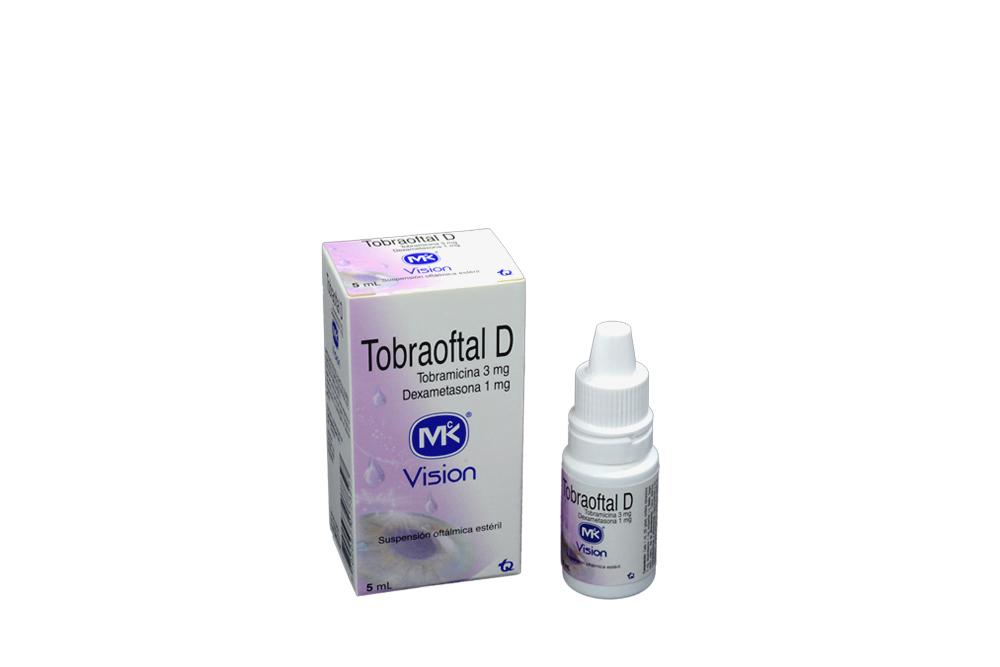 Tobraoftal D Suspensión Oftálmica Estéril 3 mg / 1 mg Frasco x 5 mL Rx