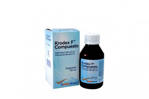 Krodex F Compuesto Suspensión Caja Con Frasco Con 120 mL Rx2