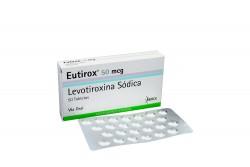 Eutirox 50 mcg Caja Con 50 Tabletas Rx4