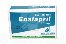 Enalapril 20 mg Caja Con 250 Tabletas Rx