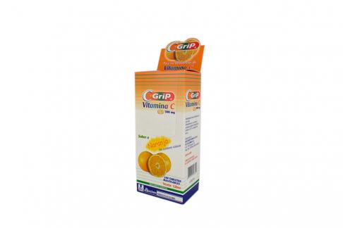C-Grip 500 mg Caja Con 100 Tabletas Rx - Sabor Naranja
