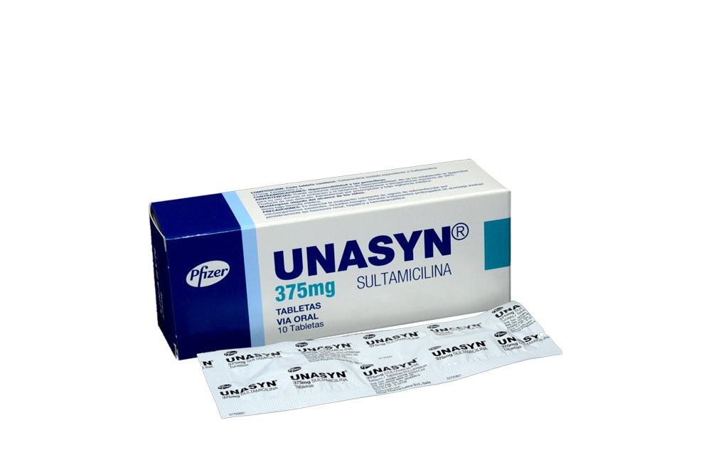 Unasyn 375 mg Caja Con 10 Tabletas Rx2