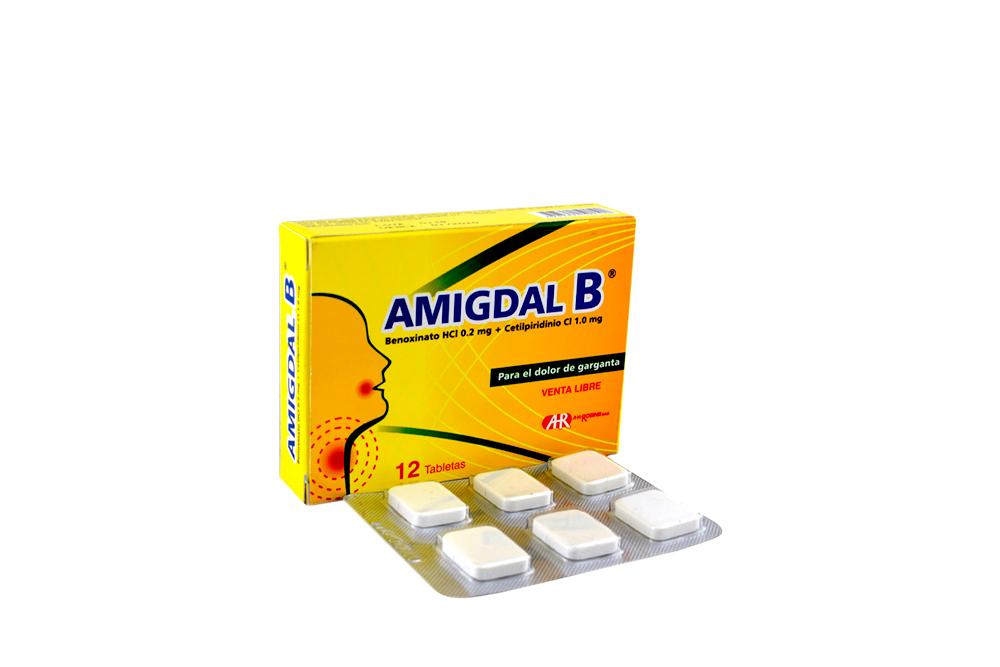 Amigdal B 0.2 / 1 mg Caja Con 12 Tabletas