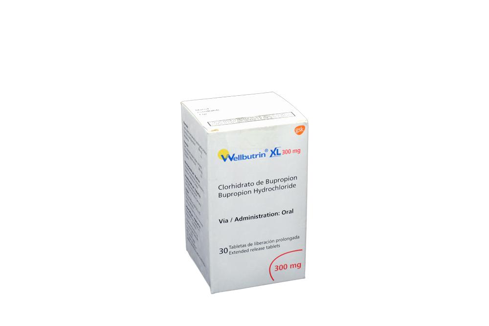 Wellbutrin XL 300 mg Caja Con 30 Tabletas De Liberación Prolongada Rx4
