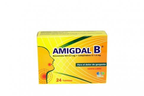 Amigdal B 0.02 / 1.0 mg Caja Con 24 Tabletas