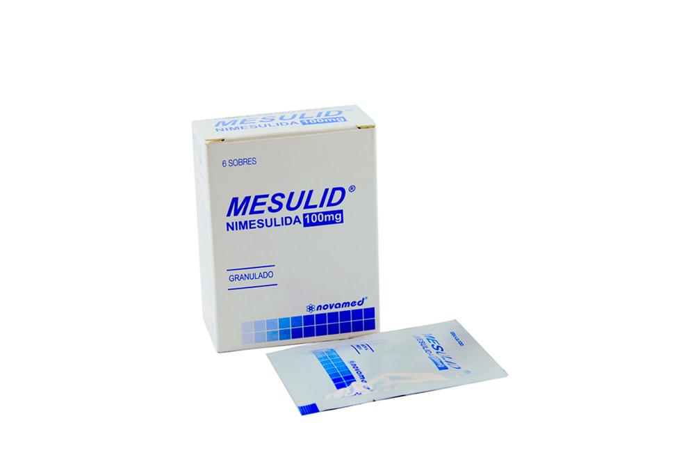 Mesulid 100 mg Caja Con 6 Sobres Rx