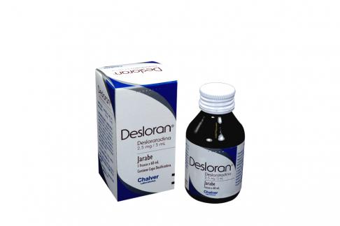 Desloran 2.5 mg / 5 mL Jarabe Caja Con Frasco Con 60 mL Rx