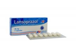 Lansoprazol 30 mg AG Caja Con 7 Cápsulas Rx
