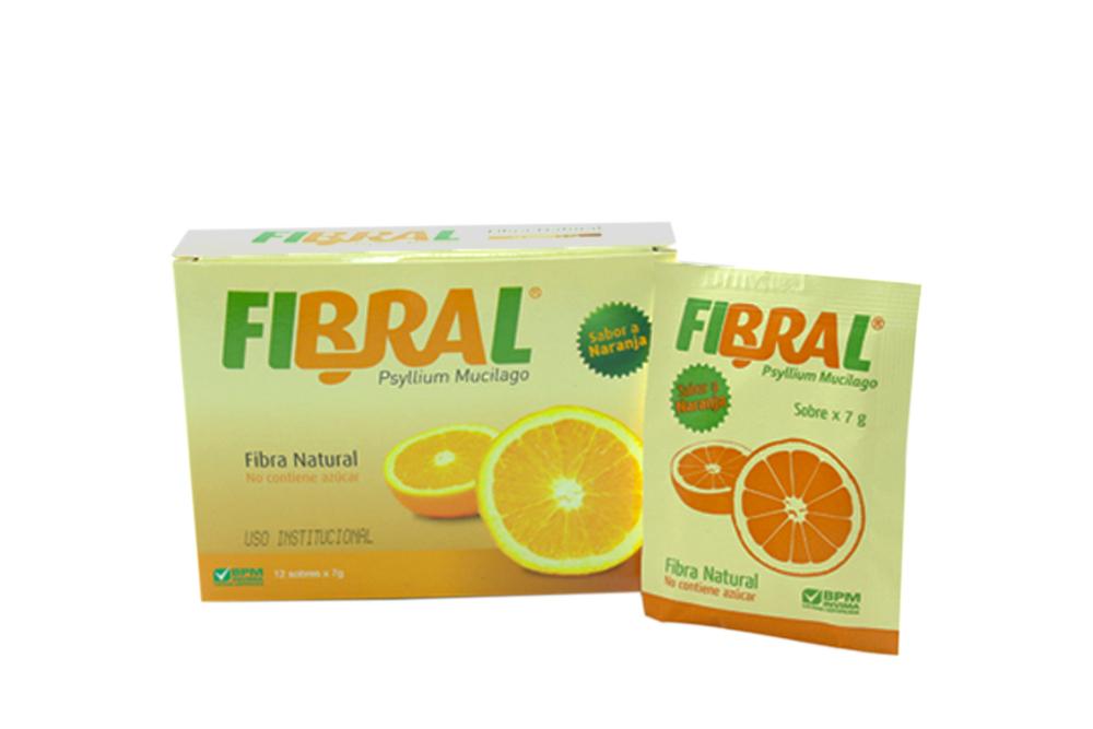 Fibral Caja Con 12 Sobres Con 7 g - Sabor Naranja