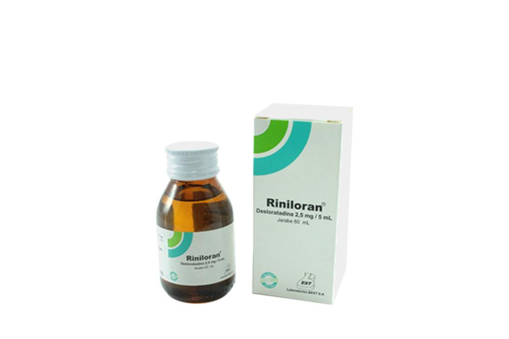 Riniloran 2.5 mg / 5 mL Jarabe Caja Con Frasco Con 60 mL Rx